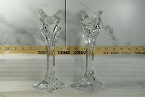 Towle Full Lead Crystal Candlestick Holder Set of 2