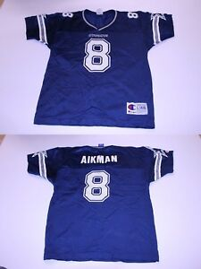 Youth Dallas Cowboys Troy Aikman L (14/16) Vintage Jersey (Navy Blue) Champion J
