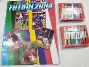 STICKER ALBUM FUTBOL ARGENTINO 2004 + 50 STICKERS PACKS