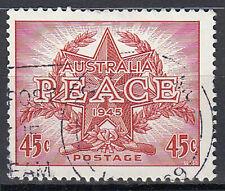 Australien gestempelt 45c Frieden Lorberkranz Stern Jahr 1945 Vollstempel / 1623