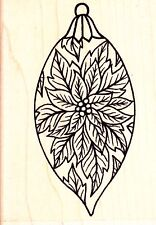 POINSETTIA BAUBLE - Personal Impressions Wood Mounted Rubber Stamp