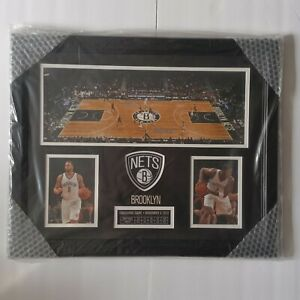 """BROOKLYN NETS Inaugural Game Mounted Memories Framed Collage 22.5"""" x 18.5"""" New"""