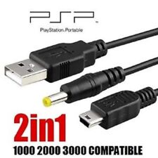 UK Retractable 2-in-1 USB Data Cable/Charging Lead for Sony PSP 1000/2000/3000