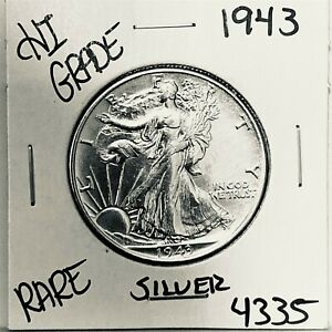 1943 LIBERTY WALKING SILVER HALF DOLLAR HI GRADE U.S. MINT RARE COIN 4335