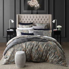 PRIVATE COLLECTION Jardin Silver Floral King Size Doona Duvet Quilt Cover Set