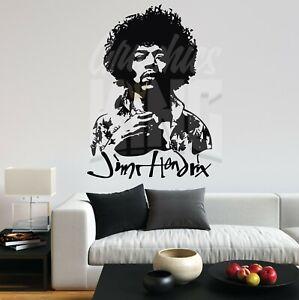 Jimi Hendrix Portrait Music Rock Experience Vinyl Decal Wall Art Sticker Home UK