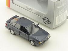 Gama 1173 mini Audi 80 Quattro B3 Blau Modellauto 1:43 OVP 1603-10-02