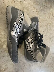 Asics Gray Matflex Wrestling Shoe Size 9 1/2 J306N