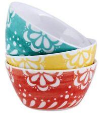 Set of 3 Melamine cereal bowls or Soup Bowls Multi Coloured