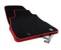Tapis de sol pour Nissan Juke Premium velours noir bordure rouge 2X