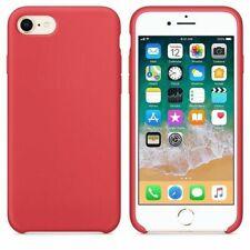 Funda silicona iphone 7/8 textura suave  Rojo frambuesa