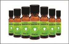 Essential Oils Floral Set - 7 Varieties in 10ml Bottles- 100 Pure