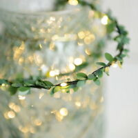 Flower Leaves LED String Lights Battery Powed Lamp Christmas Xmas Home Decor