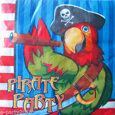 PIRATE PARTY Parrot LUNCH NAPKINS (16) ~ Birthday Supplies Dinner Serviettes