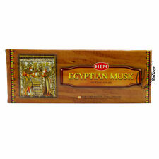HEM EGYPTIAN MUSK INCENSE STICK HEX TUBES 6 PACKS X 20 STICK = 120 STICK - 1656