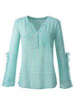 Bluse in smaragd-weiß-gestreift, Gr. 40