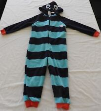 Boys size 7 DINO  zip up one piece sleepsuit pyjama  pjs costume target hood NEW