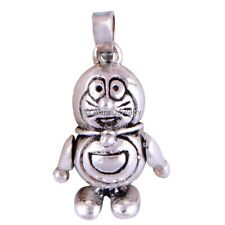 Solid 925 Sterling Silver Doremon Charm Pendant Necklace Plain Jewelry P2340-1