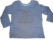 NEU tolles Langarm Shirt Gr. 74 / 80 dunkelblau mit Ice Age Mammut Motivdruck !