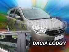 DACIA LODGY 5-portes 2012-présent Deflecteurs de vent 4-pièces HEKO Bulles