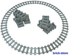 LEGO Eisenbahn 3 x Circolo ferroviario / 48x gebogne BINARI