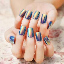 24Pcs DIY Shell Bright Color False Nails Art Tips Fake Nail Artificial Nails TOP
