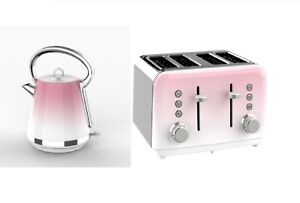 New Gorgeous Yet Fashionable Sparkle Pink Ombre Toaster and Cordless Kettle