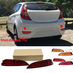 For Hyundai Accent Hatchback 2012-2017 LED Rear Fog Lights/ Brake warning Lights