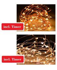 Drahtlichterkette Timer LED Micro Outdoor Lichterketter Innen Aussen Batterie CB