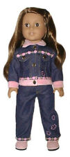 Pink Roses and Denim 2pc Pants Set/Shoes Fits 18 inch American Girl Dolls