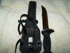 Vintage SUPER STAG Stainless Swimaster SCUBA Diving Snorkeling Knife & Sheath