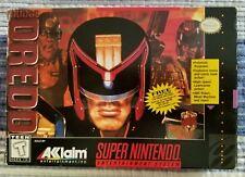 Judge Dredd SNES Super Nintendo CIB Excellent Condition