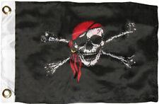 "12x18 12/""x18/"" Jolly Roger Pirate Deadman/'s Chest Sleeve Flag Garden"
