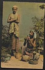 CEYLON,1906 POSTCARD SNAKE CHARMERS, USED TO BELGIUM, TAXED, 10c  POSTAGE DUE