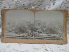"""Antique Vintage Griffith & Griffith Stereo View Card - """"New York City"""""""