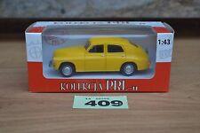 Poland Kolekcja PRLu FSO Warszawa M20 (Warsaw) 1:43 Diecast Model Car In Yellow