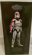Sideshow Collectibles Star Wars Republic Clone Captain (Red)1/6th Scale Figure.