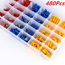Assorted Vehicle Car Electrical Wire Terminals Insulated Crimp Connectors 480Pcs