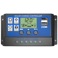 PWM 30A Solar Charge Controller 12V 24V LCD Display Dual USBSolar Panel Charger