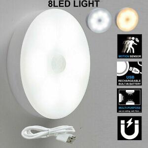 LED Motion Sensor Light Night PIR Wireless Battery Powered Cabinet Stair Lamps