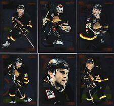 1995/96 Score Black Ice Insert VANCOUVER CANUCKS Team Set Of 12 Hockey Cards