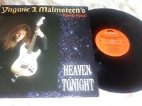 "Yngwie J Malmsteen's Rising Force - Heaven Tonight 12""Vinyl EP - VG/VG"