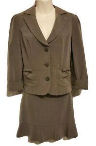 My Michelle Skirt & Jacket 2PC Gray Pinstripe Career Wear Classic SZ 7 Juniors