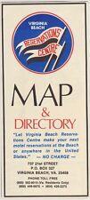 1970's Virginia Beach Map & Directory Brochure