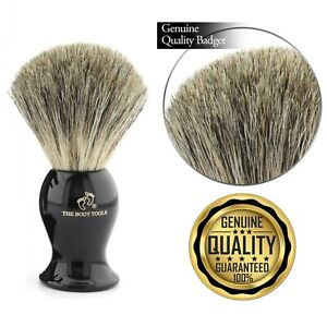 Luxury Black Handle Super Badger Shaving Brush