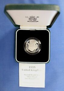 """1995 Silver Proof £2 coin """"WWII Anniversary"""" in Case with COA"""