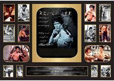 New Bruce Lee Signed Limited Edition Oversized Memorabilia Framed
