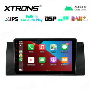 9'' 4 Core Android 10 Car Stereo Radio GPS 2+32GB DSP Wi-Fi For BMW X5 E53