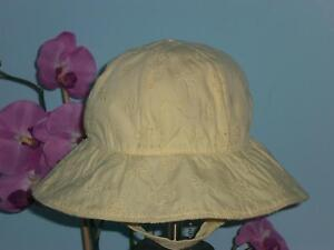 Gap Embroidered Floral Sun Hat Up to 6 Months NWT