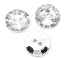 40 SILVER BACKED ACRYLIC BUTTONS 13mm  Sewing ~ embellishment ~ jewellery  (56A)